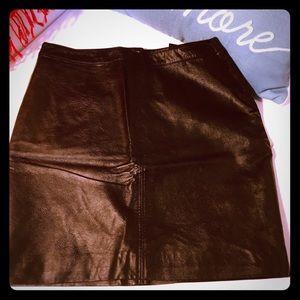 H&M faux leather mini skirt - 8